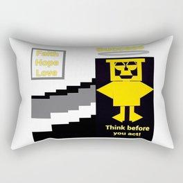 Successful Wise Owl of Faith Rectangular Pillow