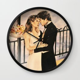 Classy couple in love Wall Clock
