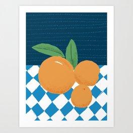 Winter oranges Art Print