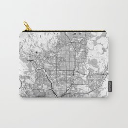 Kyoto Map Gray Carry-All Pouch