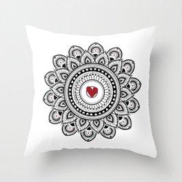 Mandala true love Throw Pillow