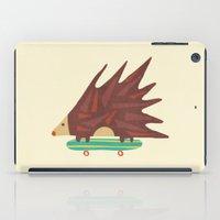 daredevil iPad Cases featuring Hedgehog in hair raising speed by Picomodi
