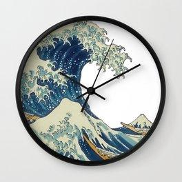 Katsushika Hokusai The Great Wave Off Kanagawa Wall Clock