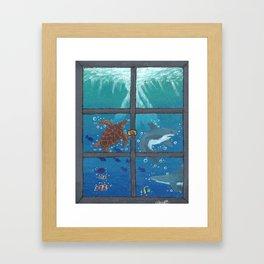 Window To The Sea Framed Art Print