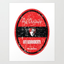 EPL 2016 - Football - AFC Bournemouth (Distressed) Art Print