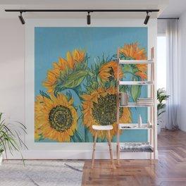 Birthday Sunflowers Wall Mural