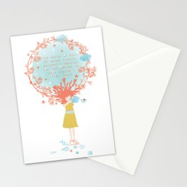 cloud's girl Stationery Cards