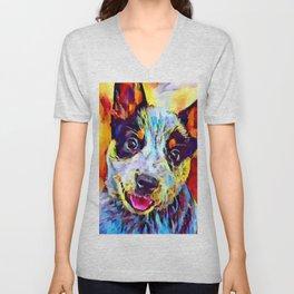 Blue Heeler Puppy Unisex V-Neck