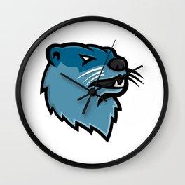 River Otter Head Mascot Wall Clock