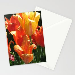 Golden Blooms Stationery Cards