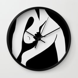 Picasso - Black and White #1 Wall Clock