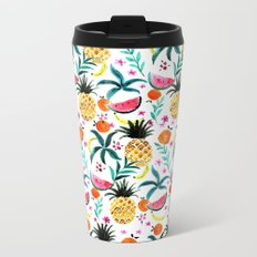 Tropical Fruits Metal Travel Mug