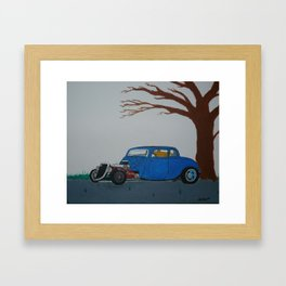 34 ford hot rod with a straight 6 Framed Art Print