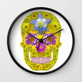 Flower Skull 3 Wall Clock
