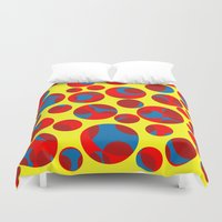 cheese Duvet Covers featuring Swiss cheese by Gaspar Avila