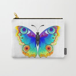 Rainbow Butterfly Peacock Eye Carry-All Pouch