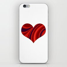 Fractal Big Heart iPhone & iPod Skin