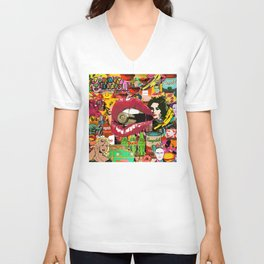 Pop Art Therapy Unisex V-Neck