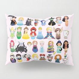 Cute kokeshis fairy tales Pillow Sham