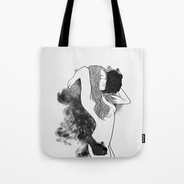 The courage of deeply love. Tote Bag
