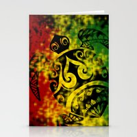 rasta Stationery Cards featuring Rasta Honu by Lonica Photography & Poly Designs
