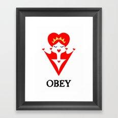 OBEY ME! Framed Art Print