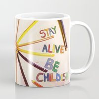 childish gambino Mugs featuring STAY ALIVE BE CHILDISH II by Pio Timoko