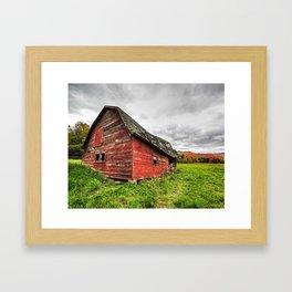 Keene Valley Red Barn Adirondacks Keene Valley New York Framed Art Print