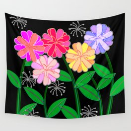 Plasticine Flowers with Dandelion Seed Wall Tapestry