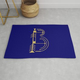Sacred Geometry Letter B Rug