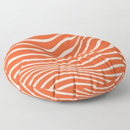 Wavy Abstract Pattern Red White Print Flowy Floor Pillow
