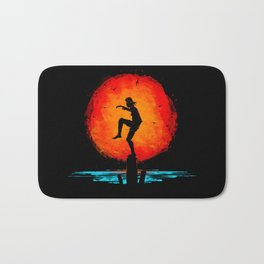 Minimalist Karate Kid Tribute Painting Bath Mat