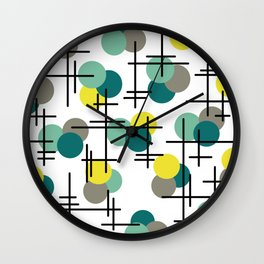 Atomic Age Molecules Wall Clock