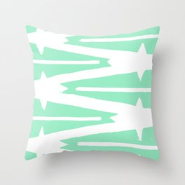 Green Tribal Throw Pillow