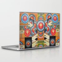 coasters Laptop & iPad Skins featuring Urban Chestnut Collage by Jen Gotsch