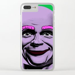 Mr Clean Pop Art on green background Clear iPhone Case