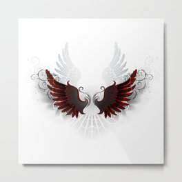 Black Wings Metal Print