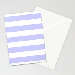 Lavender blue - solid color - white stripes pattern Stationery Cards