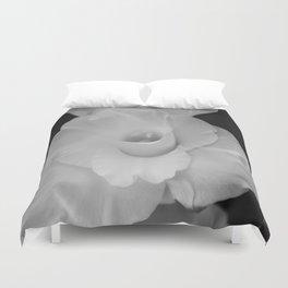 Black and White Gladiolus Duvet Cover