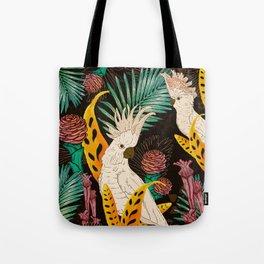 Tropical Cockatoos Tote Bag