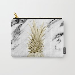 Gold Pineapple on Marble Carry-All Pouch