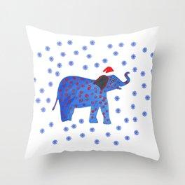 Holidays Elephant Throw Pillow