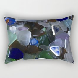 Sea Glass Assortment 4 Rectangular Pillow