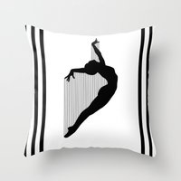 sia Throw Pillows featuring Harp by Kristijan D.