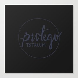 Protego Totalum Canvas Print