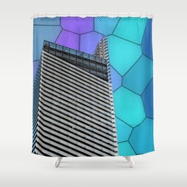 Gran Via Alien Wiew Shower Curtain