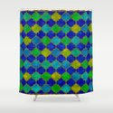 Ocean Breeze -Watercolor Moroccan Lattice by vivaeris