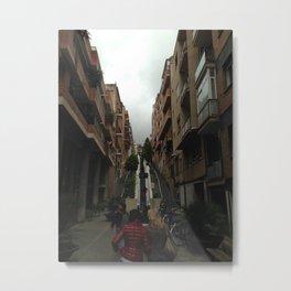 Tourists in Barcelona Metal Print