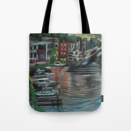 Manistee at Night Tote Bag