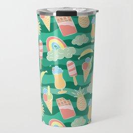 Super happy summer beach party pattern Travel Mug